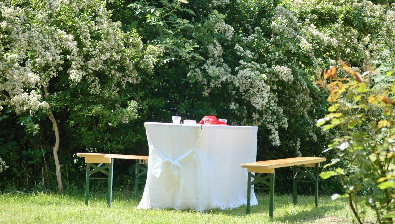 Tafel im Garten Kopie